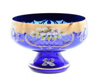 Синяя Лепка ваза для фруктов 32см