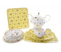"Falken Porsellan ""Maxim round - Primavera Yellow Gold"" столовый сервиз на 6 персон из 26 предметов"