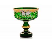 Зеленая Лепка ваза для конфет 15см