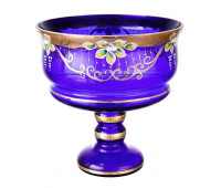 Синяя Лепка ваза для фруктов 26 см