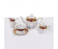 Барокко 202 Красный сервиз чайный на 6 персон 17 предметов