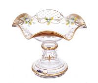 Лепка Золотая ваза для конфет 18 см Веер