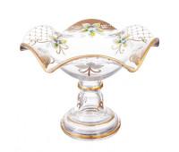 Лепка Золотая ваза для конфет 22 см Веер