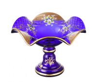 Синяя Лепка ваза для фруктов 26см