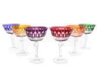 Хрусталь Цветной набор хрустальных бокалов 180мл из 6ти штук