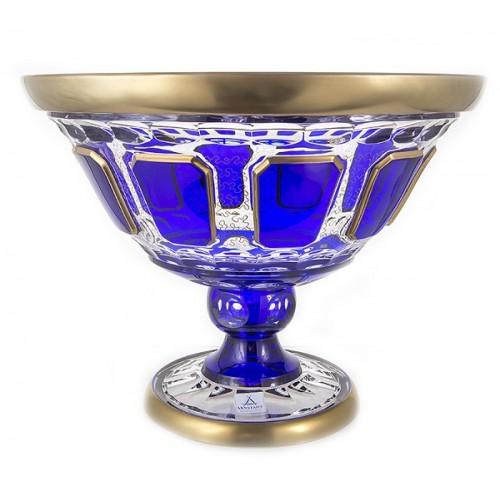 Арнштадт Антик Синяя ваза для фруктов 31см