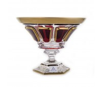 Арнштадт Антик Рубин ваза для конфет 18см на ножке