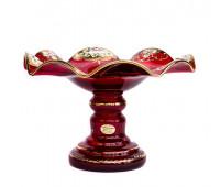 Красная Лепка веер ваза для фруктов 28см