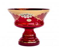 Красная Лепка ваза для фруктов 26см