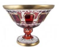Арнштадт Антик Рубин ваза для фруктов 31см