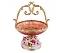 Rosaperla Розовые Цветы ваза для конфет