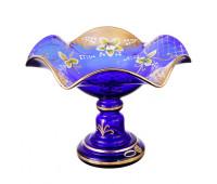 Синяя Лепка ваза для конфет 22см