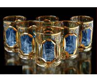 Цветной Хрусталь  Топаз набор стаканов 60 мл 6 штук