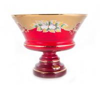 Красная Лепка ваза для конфет 20см