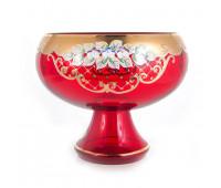 Красная Лепка ваза для конфет 22см