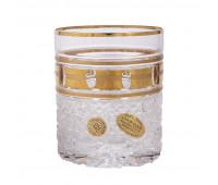 Золотые окошки набор низких стаканов 330мл 6 штук
