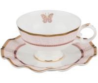 """Lefard """"Бабочка"""" набор чайных пар 200мл из 6ти штук в подарочной коробке"""