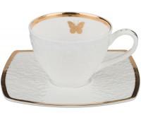 "Lefard ""Бабочка Голд"" набор чайных пар 200мл из 6ти штук в подарочной коробке"