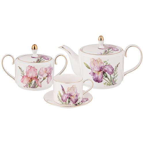 Ирисы сервиз чайный на 6 персон из 14 предметов