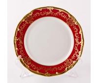 """Веймар """"Ювел Красный"""" набор тарелок 19см десертных 6штук"""