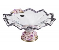 Кристал Прозрачная ваза для фруктов 39см, высота 18см