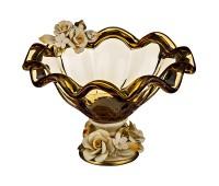 Кристал Медовая ваза для фруктов 23х24см, высота 16см