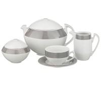 MZ Скарабей Платина чайный сервиз на 6 персон 15 предметов