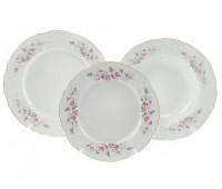 Бернадотт Роза Серая  набор тарелок из 18ти штук
