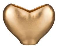 Золотое сердце ваза для цветов 20см