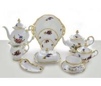 """Веймар """"1042 Мейсенский Букет"""" сервиз чайный на 12 персон 55 предметов"""