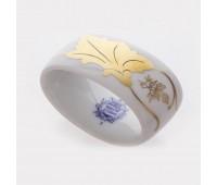 """Веймар """"Кленовый Лист Белый 408"""" кольцо для салфеток"""