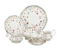 """Столовый-чайный сервиз Lefard """"Мелкие Цветы"""" на 12 персон  40 предметов"""