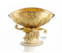 Cevik Group Золото Кремовые Цветы ваза для фруктов 31см