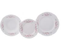 Бернадотт Роза Серая Платина набор сервировочных тарелок из 18ти штук