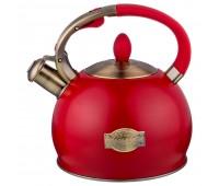 Agness чайник со свистком 3 л Красный