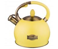 Agness чайник со свистком 3 л Желтый