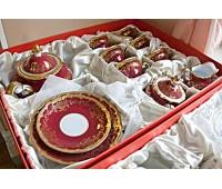 """Веймар """"Ювел Красный"""" сервиз чайный на 6 персон 21 предмет в подарочной упаковки"""