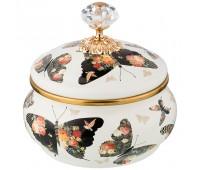 Agness Butterfly ваза 850 мл с крышкой