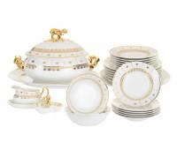 Менуэт Золотой Орнамент столовый сервиз на 6 персон 27 предметов