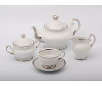 АГ 902 Платина чайный сервиз на 6 персон из 15-ти предметов