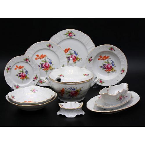 Бернадотте Полевой цветок сервиз столовый на 6 персон из 26-ти предметов