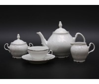 Бернадот 2021 Платина Сервиз чайный на 6 персон из 15-ти предметов