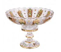 Хрусталь c Золотом Богатая ваза для фруктов 40,5см