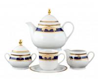 Тхун Яна Кобальт чайный сервиз на 6 персон 15 предметов