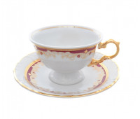 Мария Луиза Лилия Красная набор чайных пар 220мл из 6ти штук