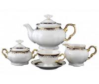 Мария Луиза Лилия Черная чайный сервиз на 6 персон 15 предметов