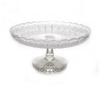 Хрусталь Снежинка Sonne Crystal ваза для фруктов 35см