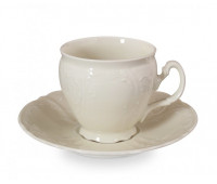 Бернадотт Ивори Недекорированный 0000 набор чашек с блюдцами для кофе 170мл 6 штук