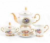 Фрукты чайный сервиз на 6 персон 15 предметов