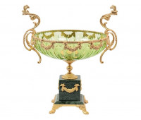 Rosaperla  Зеленая ваза для фруктов